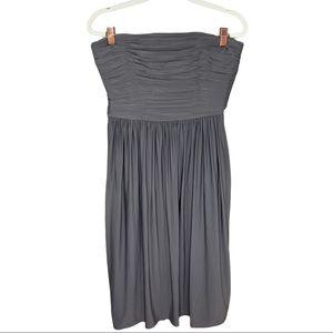 NWT J. Crew Gray Strapless Dress Size 12